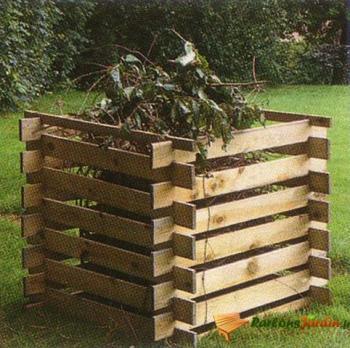 Bac à compost en bois 250l