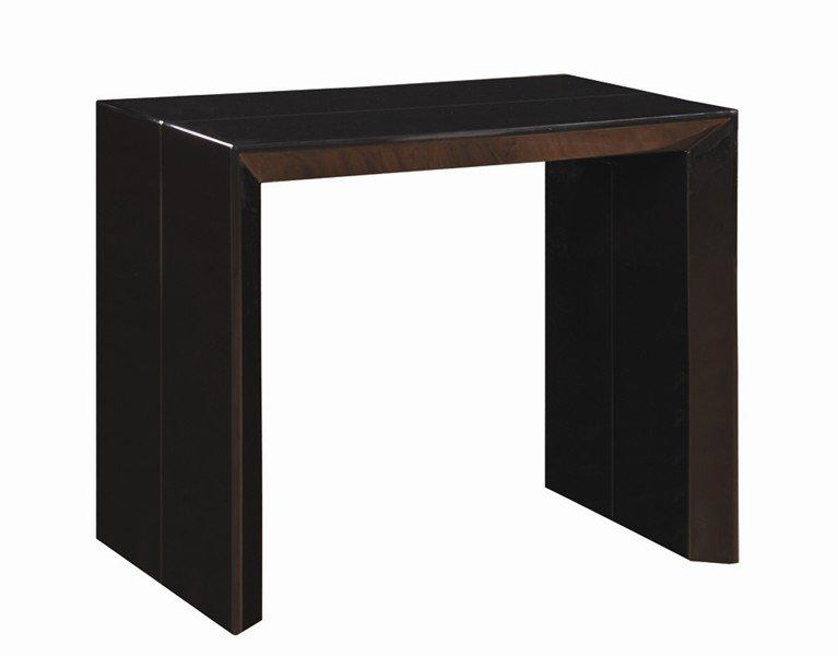 console extensible en table repas extenso deluxe noir brillant 12 couverts. Black Bedroom Furniture Sets. Home Design Ideas