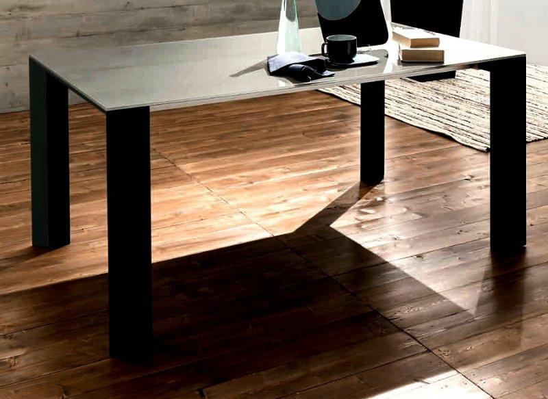 Table noire verre extensible faire mieux pour votre maison for Table verre noir extensible