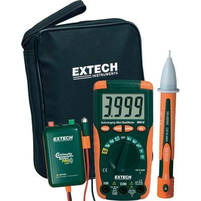 SET MULTIMÈTRE NUMÉRIQUE EXTECH MN16A-KIT CAT II 1000 V, CAT III 600 V 4000 COUNTS