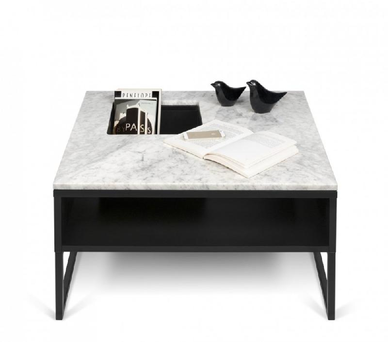 temahome table basse sigma en marbre blanc comparer les prix de temahome table basse sigma en. Black Bedroom Furniture Sets. Home Design Ideas