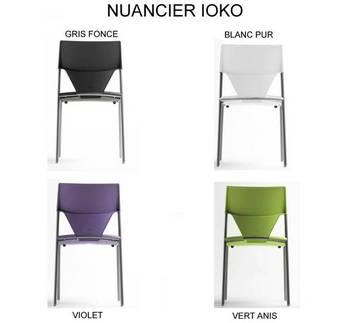 FAUTEUIL IOKO EMPILABLE VIOLET