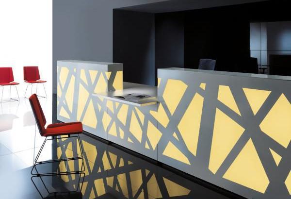 banque d 39 accueil zig zag aux docks du bureau. Black Bedroom Furniture Sets. Home Design Ideas
