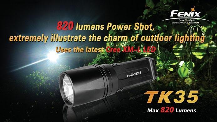 LAMPE FENIX TK35 820 LUMENS