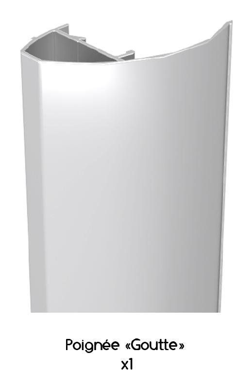 poign e goutte r glable en aluminium laqu blanc ral 9016 de 2 8 m wimove comparer les prix. Black Bedroom Furniture Sets. Home Design Ideas
