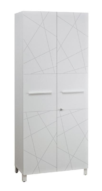 armoire 2 portes finition blanc sunday largeur 80 cm. Black Bedroom Furniture Sets. Home Design Ideas