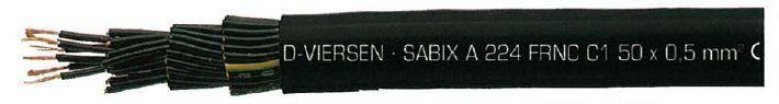 Câble multiconducteur de commande sans halogène sabix a 224 frnc c1