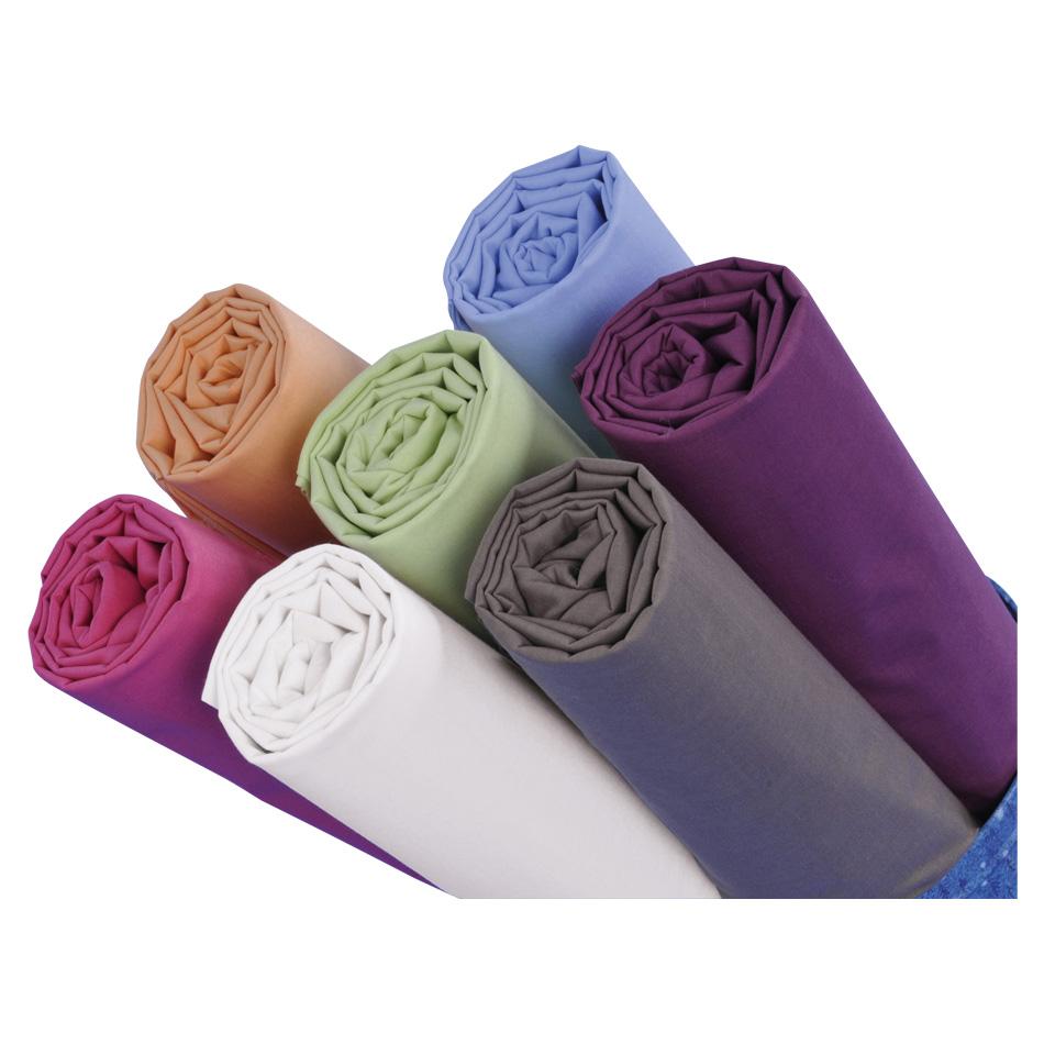 Lot de 10 draps housses polycoton uni 80 x 190 cm prune - Drap housse 80 x 190 ...