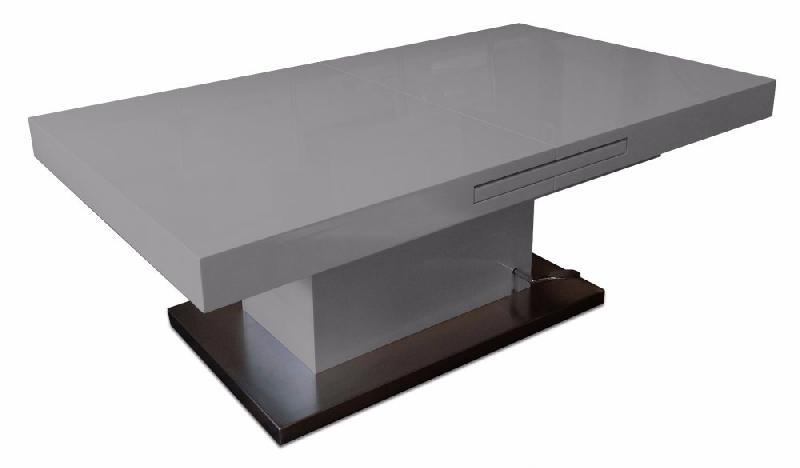 Table Brillant Setup Relevable Gris Basse Extensible UzpSMV