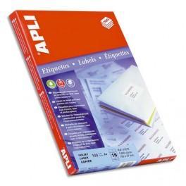 Agipa Boite de 100 /étiquettes blanches pour imprimante jet dencre// laser//copieur 100/% recycl/ées 210x297mm