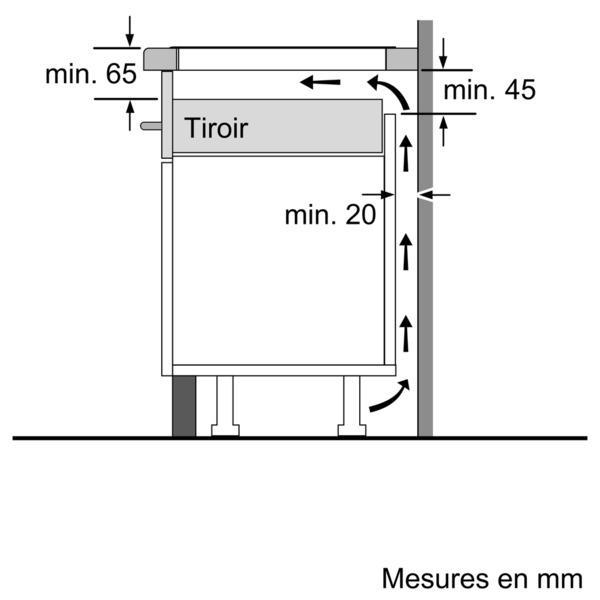 Dimension Plaque De Cuisson #15: BOSCH - TABLE CUISSON INDUCTION 80CM PIL875N14E (PIL 875 N 14 E) NOIR