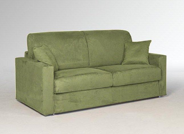 Canape lit 2 3 places dreamer microfibre vert convertible rapido 120 190 14 c - Canape lit usage quotidien ...