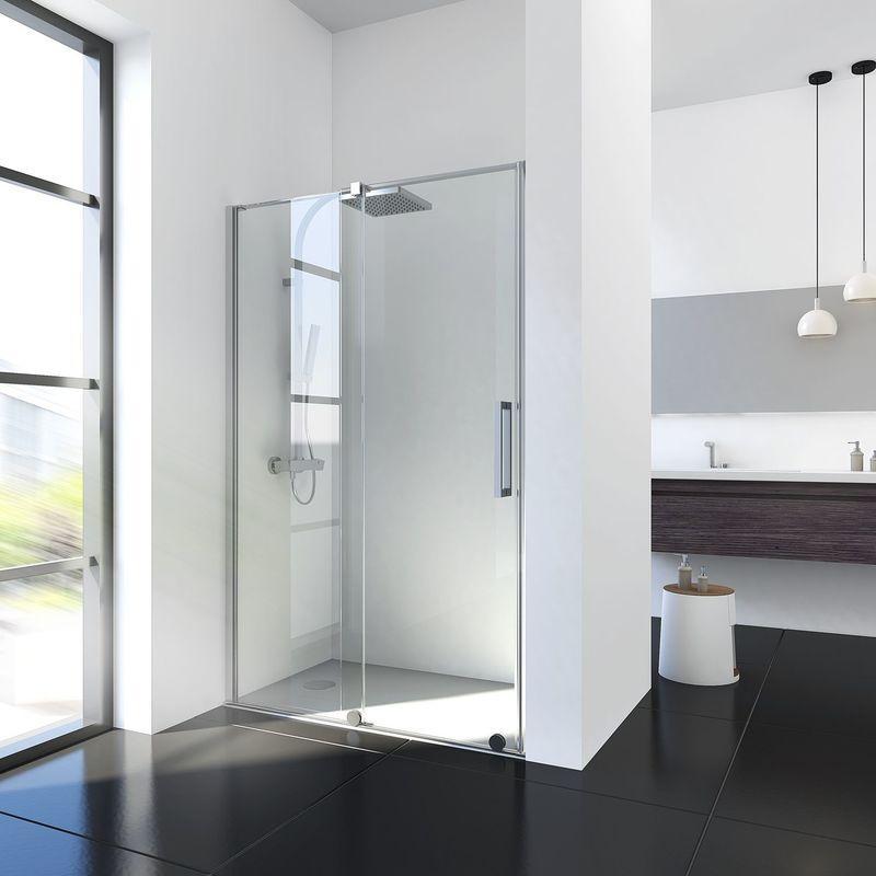 porte de douche coulissante en niche maxxi avec syst me coulissant en bas paroi de douche. Black Bedroom Furniture Sets. Home Design Ideas