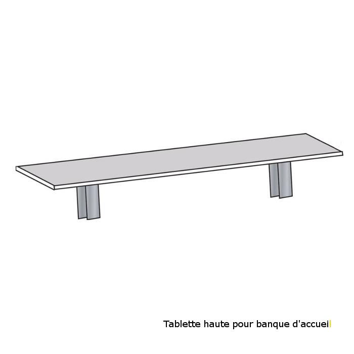 TABLETTES POUR BANQUE D'ACCUEIL MODULAIRE DESIGN TABLETTE HAUTE