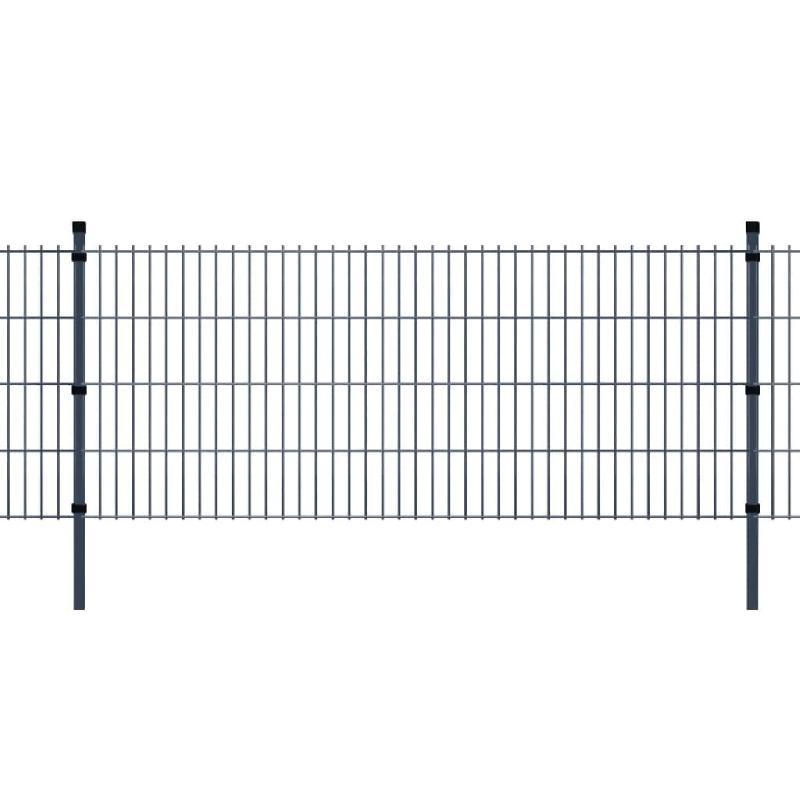 Vidaxl panneaux et poteaux de clôture 2d pour jardin 2008x830 mm 20 m
