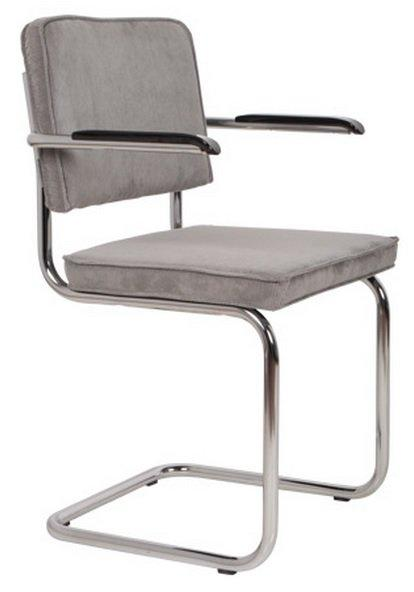 Chaise zuiver ridge rib en velours avec cadre chrome for Chaise zuiver
