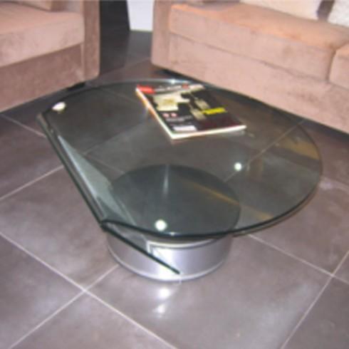 table basse demi cercle en verre transparent comparer les prix de table basse demi cercle en. Black Bedroom Furniture Sets. Home Design Ideas