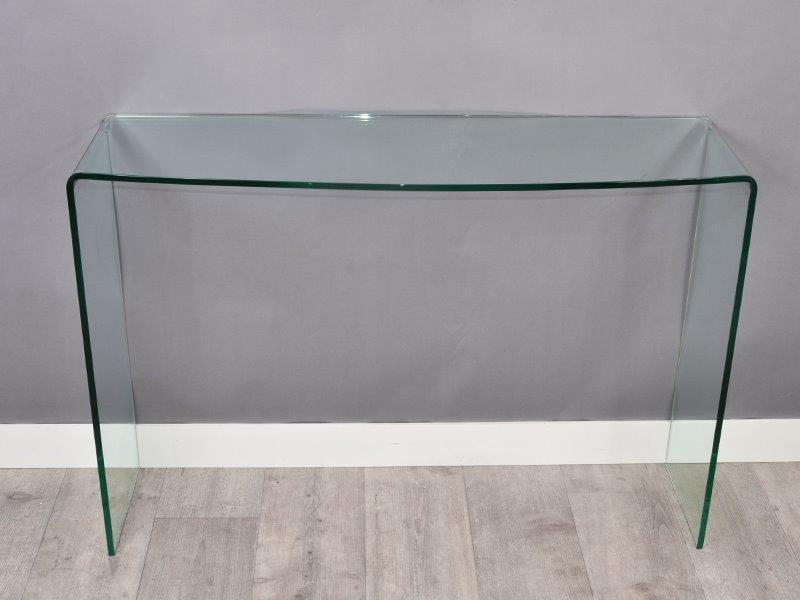 Console compact en verre versa for Console informatique en verre