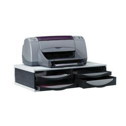 support pour imprimante et t l copieur fellowes 24004 14 5 h x 54 5 l cm noir gris. Black Bedroom Furniture Sets. Home Design Ideas