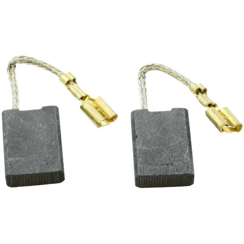Balais de Charbon pour BOSCH USW 77 meuleuse 6,4x12,5x19mm 2.4x4.7x7.5 Avec arr/êt automatique