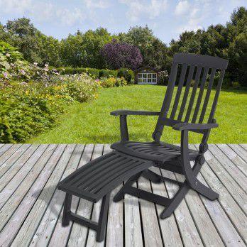 Chaise et fauteuil d 39 ext rieur comparez les prix pour for Chaise longue avec repose pied