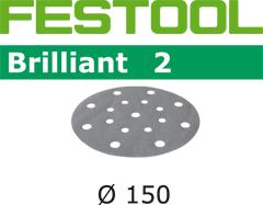 FESTOOL ABRASIF STICKFIX STF BRILLIANT 2 DIAMÈTRE 150MM BOÎTE DE 100 GRAIN 220 : (496592)