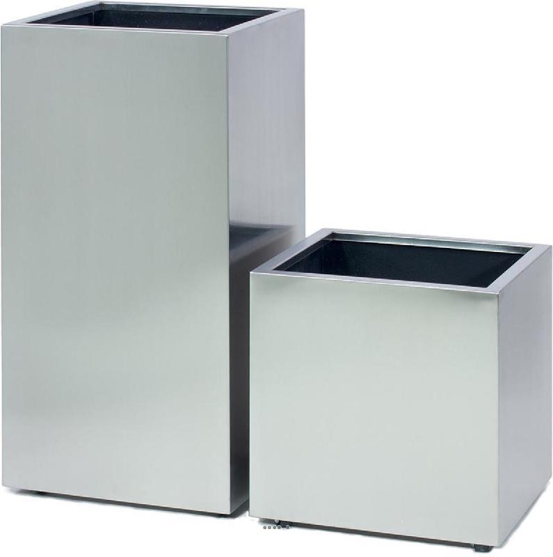 bac acier inox inox int cube l 40x 40 x h 42 cm argent. Black Bedroom Furniture Sets. Home Design Ideas