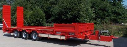 Pb32co - remorque plateau pour poids lourd - fournier - 3 essieux