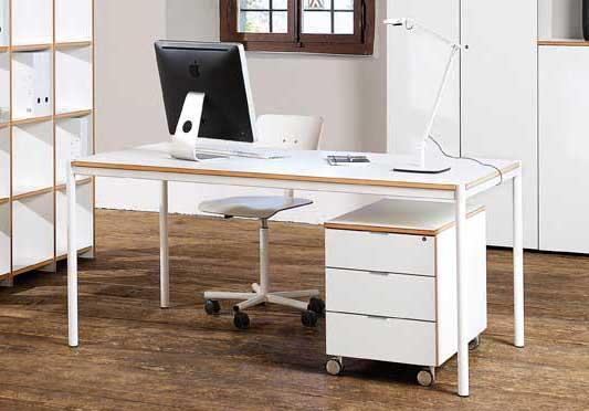 archivar bureau 180 x 80 cm blanc. Black Bedroom Furniture Sets. Home Design Ideas