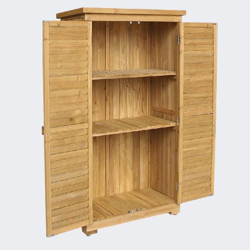Cabane abri de jardin avec doubles portes 87 x 46 x 160 cm bois d\'épicéa 2216002