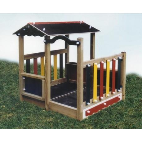 cabane en bois pour enfant lou cigalon. Black Bedroom Furniture Sets. Home Design Ideas