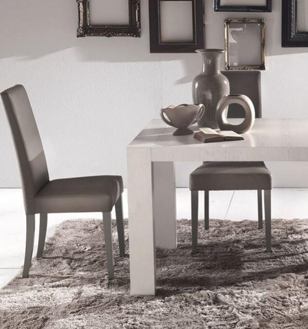 lot de 2 chaises design italienne vertigo lux en tissu enduit polyurethane simili facon cuir taupe. Black Bedroom Furniture Sets. Home Design Ideas