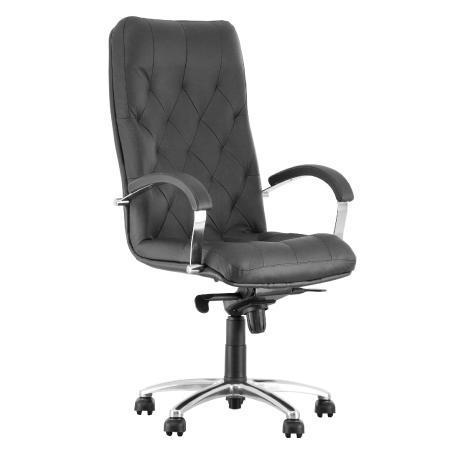 Cuba fauteuil de direction synchrone, ergonomique en cuir véritable noir