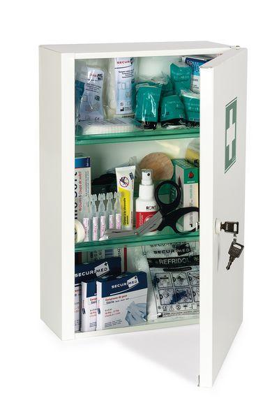 armoire pharmacie m tal 1 porte garnie comparer les. Black Bedroom Furniture Sets. Home Design Ideas