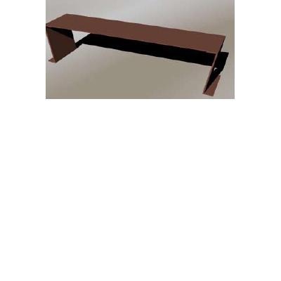 banc acier corten sans dossier bancazeta. Black Bedroom Furniture Sets. Home Design Ideas