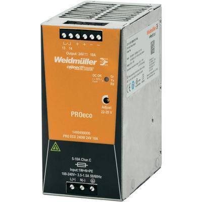 ALIMENTATION RAIL DIN WEIDMÜLLER PRO ECO 240 W 24 V 10 A 28 V/DC 10 A 240 W 1 X