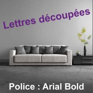 LETTRES DÉCOUPÉES ADHÉSIVES - ARIAL