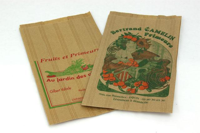 sacs en papier special frais et primeur. Black Bedroom Furniture Sets. Home Design Ideas
