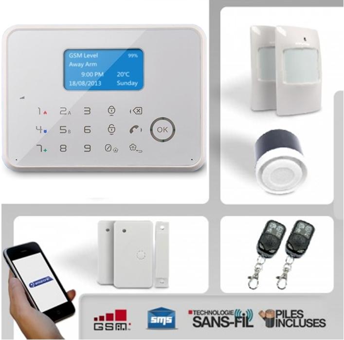 Alarme en kit ematronic achat vente de alarme en kit for Alarme filaire maison