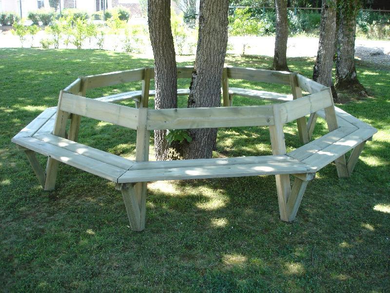 Banc Public En Bois Circulaire Cdirect Pro Soleil