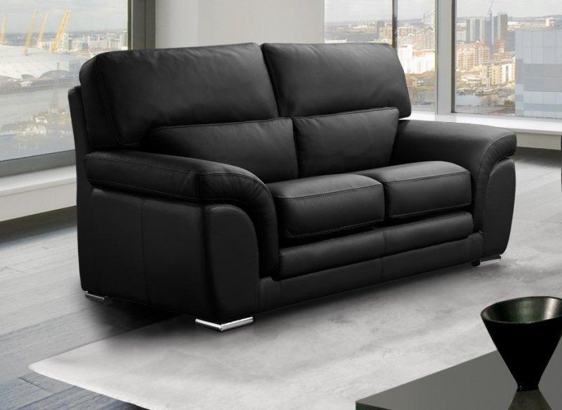 nouveau produit bd697 fe8aa Cloe canapé 2 places cuir véritable noir