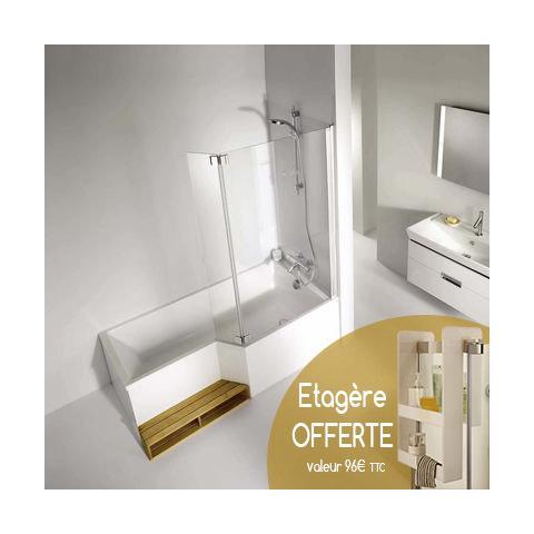 ensemble baignoire neo 150 x 60 80 cm jacob delafon. Black Bedroom Furniture Sets. Home Design Ideas