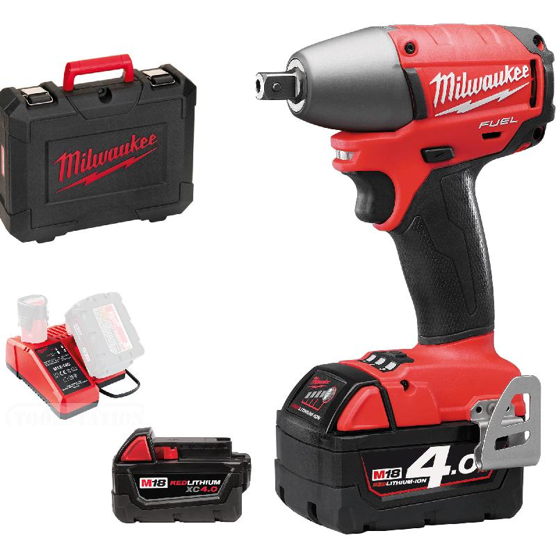 milwaukee m18 ciw12 boulonneuse choc compact carr 1 2 39 39 fuel 18v 4ah 2 batteries 1. Black Bedroom Furniture Sets. Home Design Ideas