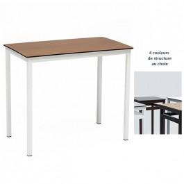 Table a manger trz m43 rectangulaire 120x70 cm 4 pieds for Table a manger 120x70