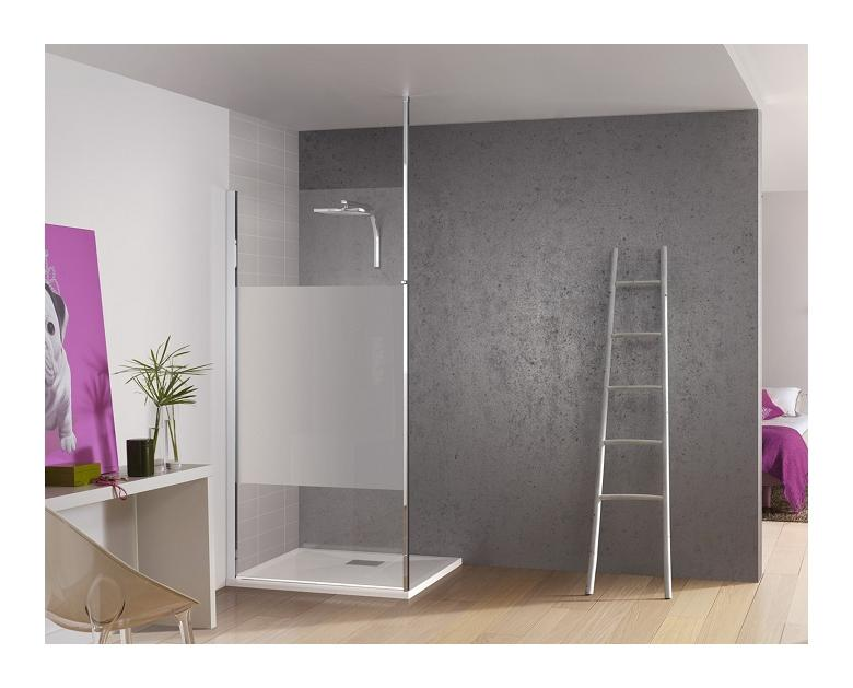paroi de douche fixe kinespace solo avec m t avec bande. Black Bedroom Furniture Sets. Home Design Ideas