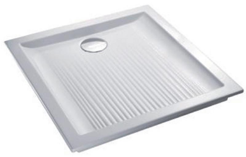 receveur a encastrer kyreo 70x70cm en ceramique pour bonde d60mm blanc ref en130 00. Black Bedroom Furniture Sets. Home Design Ideas