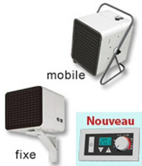 CHAUFFAGE AÉROTHERME ÉLECTRIQUE - NOIROT - AÉROTHERME MOBILE-FIXE - 4500/3000W