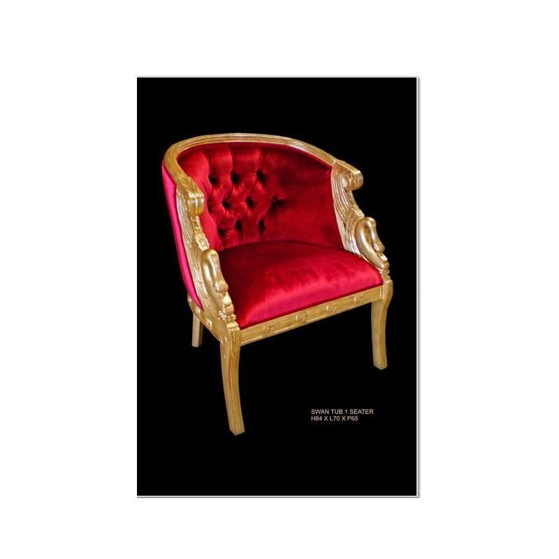fauteuil de style rouge cygne. Black Bedroom Furniture Sets. Home Design Ideas