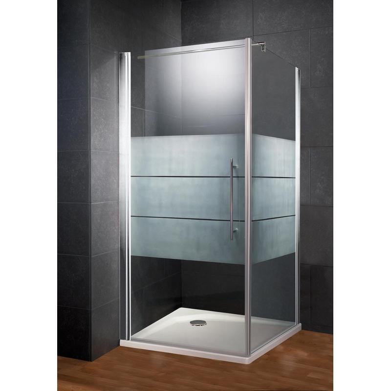 porte de douche pivotante paroi lat rale style d cor d poli light anti calcaire 90 x 90 x. Black Bedroom Furniture Sets. Home Design Ideas