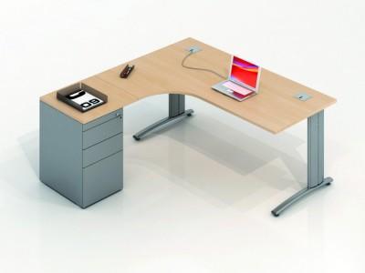 bureau plan compact avec caisson tous les fournisseurs. Black Bedroom Furniture Sets. Home Design Ideas